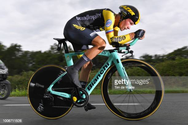 Primoz Roglic of Slovenia and Team LottoNL Jumbo / during the 105th Tour de France 2018 Stage 20 a 31km Individual Time Trial stage from...