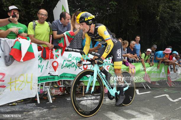Primoz Roglic of Slovenia and Team LottoNL - Jumbo / during the 105th Tour de France 2018, Stage 20 a 31km Individual Time Trial stage from...