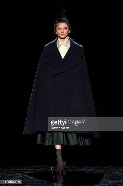Primrose Archer walks the runway for the Marc Jacobs Fall 2019 Show at Park Avenue Armory on February 13 2019 in New York City