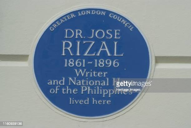 Primrose Hill Blue plaque commemorating the residence of Dr Jose Rizal the 19th century writer and national hero of the Philippines Primrose Hill...