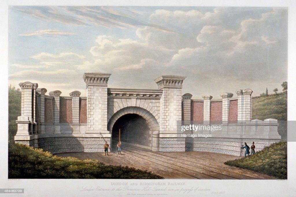 Primrose Hill Tunnel of the London and Birmingham Railway, 1837. Artist: C Rosenberg : News Photo