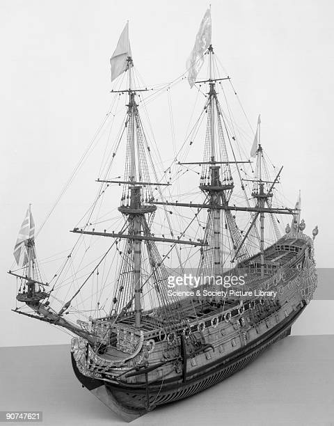 HMS 'Prince' 1670 Model This contemporary dockyard model of a FirstRate of the reign of Charles II is one of the finest still in existence She was...