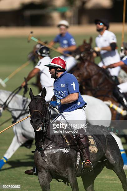 Prince Abbas bin Ali bin Nayef in action on the third day of the Cartier International Dubai Polo Challenge 11th edition at Desert Palm Hotel on...