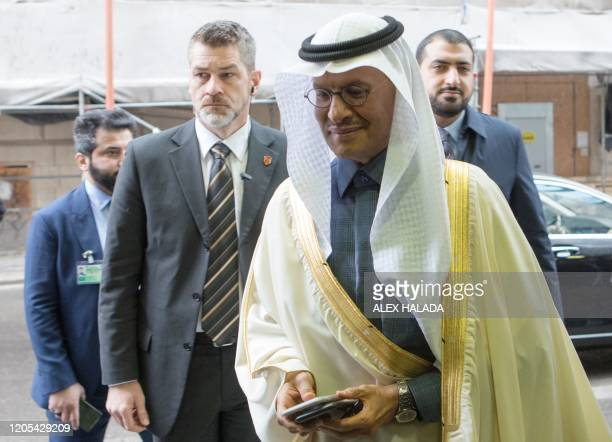 Prince Abdulaziz bin Salman AlSaud Minister of Energy of Saudi Arabia arrives for the 178th meeting of the Organization of Petroleum Exporting...