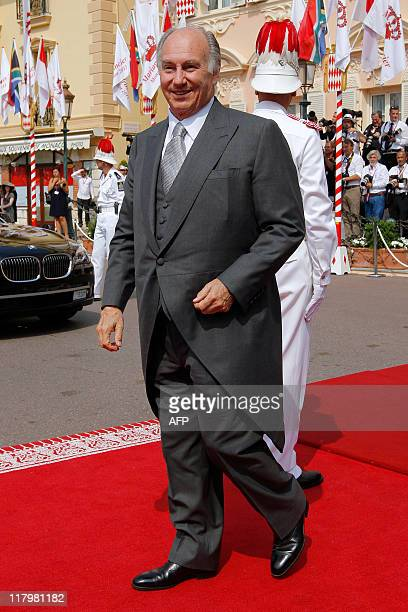 Prince Aga Khan arrives for the religious wedding of Prince Albert II of Monaco and Princess Charlene of Monaco at the Prince's Palace on July 2 2011...