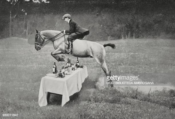 Prince Aimone performing the table jump photo by Carlo La Barbera from L'Illustrazione Italiana Year XXXVI No 42 October 17 1909