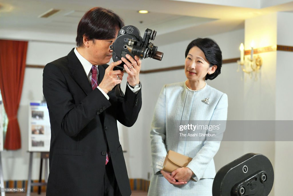 Prince And Princess Akishino Visit Exhibition Marking 3,000th TV Program Featuring Royal Family