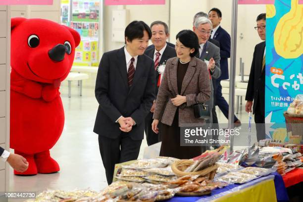 Prince Akishino and Princess Kiko of Akishino visit the Harvest Festival hosted by Agriculture Ministry on November 2 2018 in Tokyo Japan