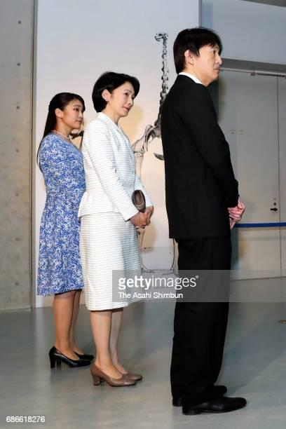 Prince Akishino Princess Kiko and Princess Mako visit the 'TREASURES of the Natural World Best of London's Natural History Museum' exhibition at the...