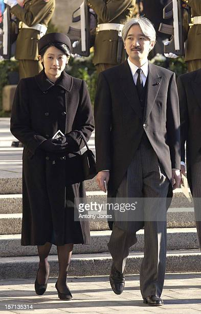 Prince Akishino Princess Kiko Of Japan Attend The Funeral Of Grand Duchess JosephineCharlotte Of Luxembourg At The Cathedral NotreDame Du Luxembourg