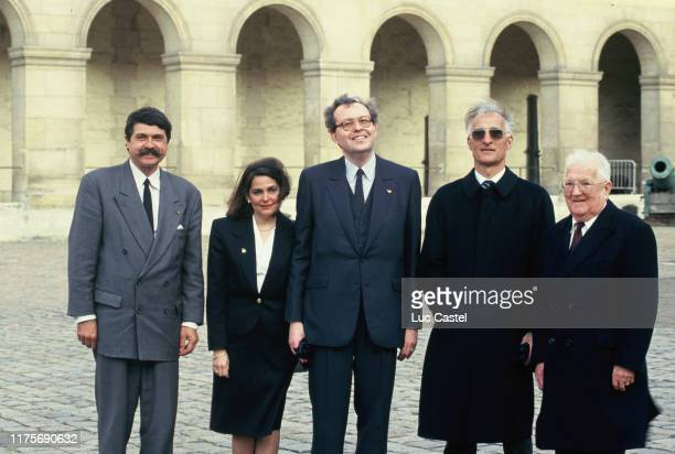 Prince Alain Murat Comte and Countess Charles Andre Colonna Walewski LouisNapoleon Bonaparte Wyse Comte Leon attend the mass given in memory of the...
