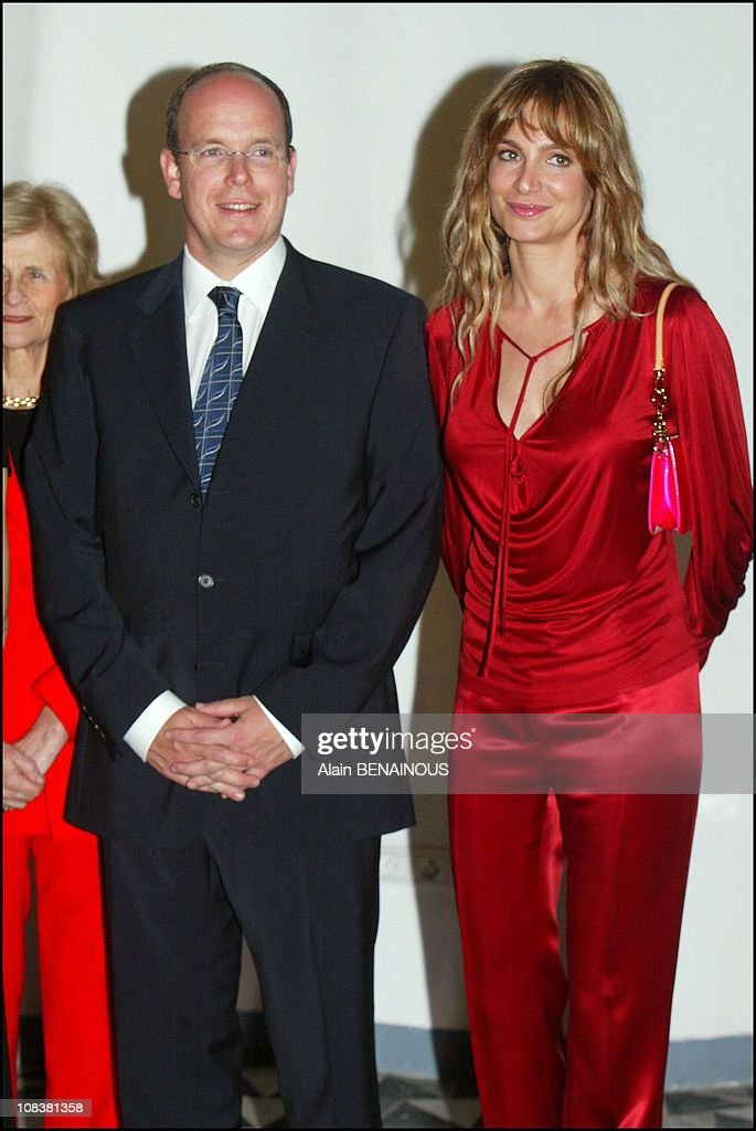 Prince Albert During The Seventy-Fifth Birthday Of Monte Carlo Tennis Tournament At The Country Club In Monaco On April 16, 2003. : News Photo