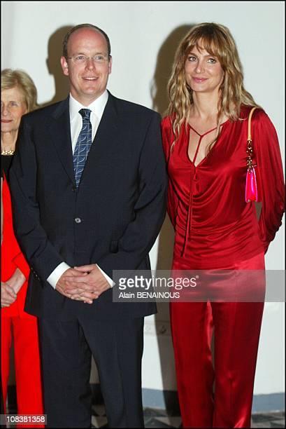 Prince Albert and Alexandra Kamp in Monaco on April 16 2003