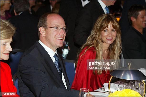 Prince Albert and Alexandra Kamp in Monaco on April 16, 2003