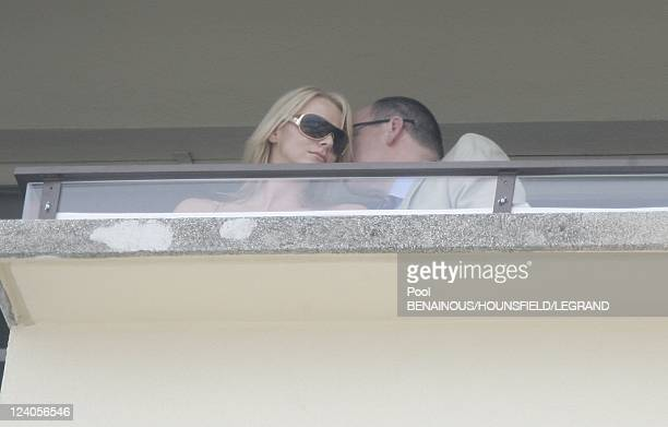 Prince Albert and Charlene Wittstock at the 65th Formula one Monaco Grand Prix In Monaco city Monaco On May 27 2007