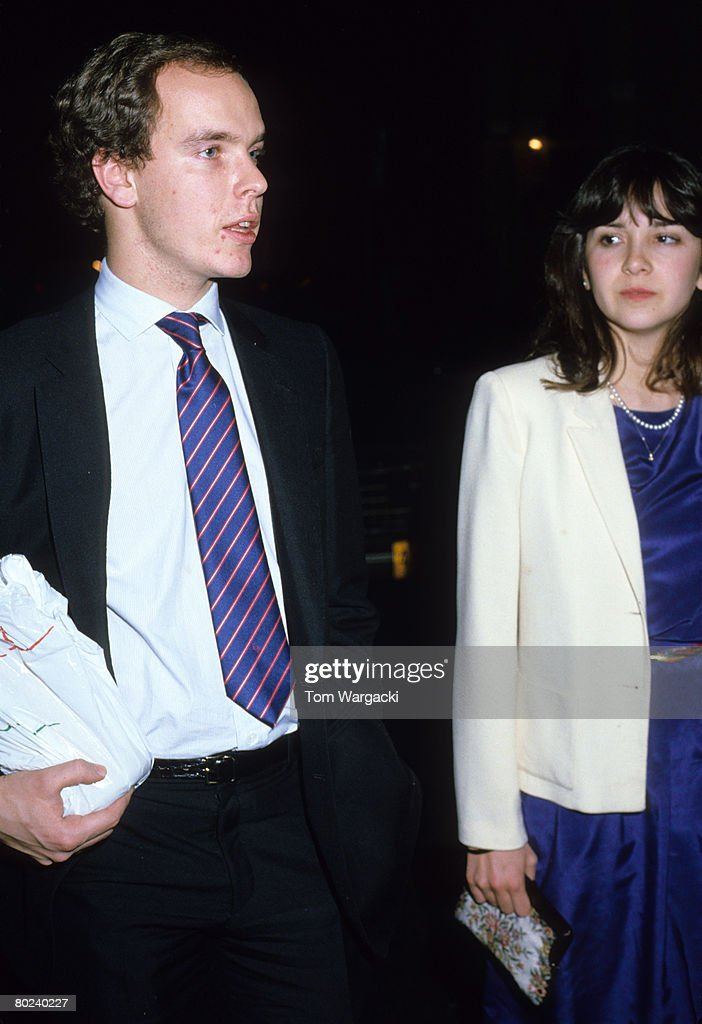 Prince Albert and Girlfriend at Palantine Restaurant : News Photo