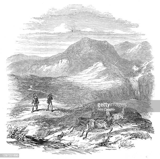 Prince Albert and Lord Glenlyon deer-stalking at Athol, 1844. The Prince Consort and George Murray, 6th Duke of Atholl, hunting deer at Blair Atholl...