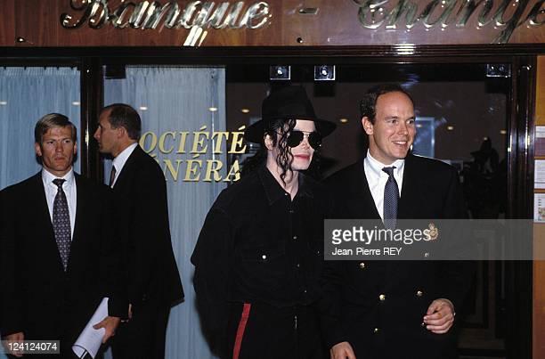 Prince Albert and Michael Jackson In Monaco city Monaco On May 10 1993