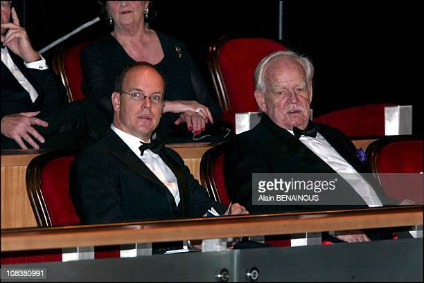 Prince Albert and Prince Rainier in Monaco on December 14 2002