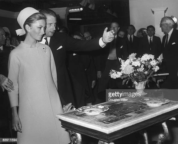 Prince Albert and Princess Paola of Belgium open the 27th Antique Dealers' Fair at Grosvenor House in London 14th June 1967