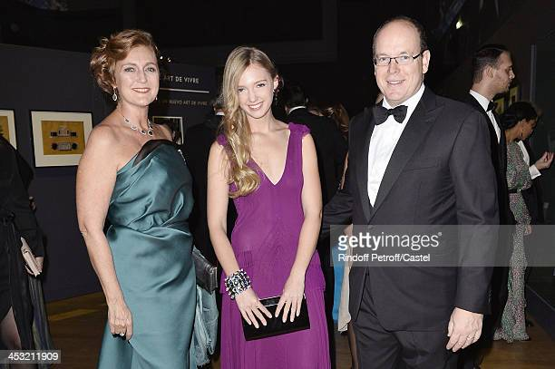 Prince Albert de Monaco Archduchess Eleonore Von Habsburg and her daughter Princess Francesca Von Habsburg attend the 'Cartier Le Style et...