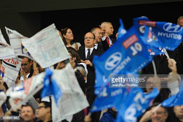 Prince Albert de Monaco during the football french Ligue 1 match between Olympique Lyonnais and As Monaco at Stade des Lumi����res on May 7 2016 in...