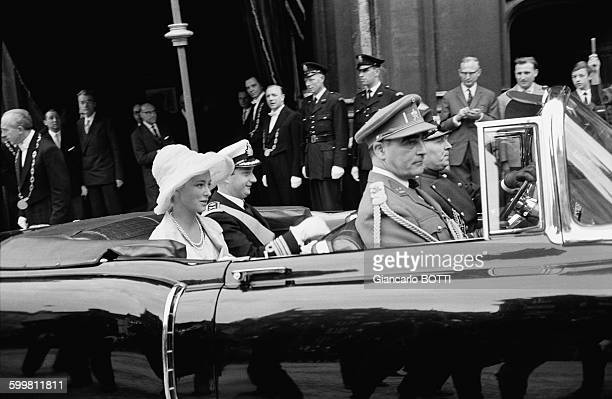 Prince Albert II and Princess Paola at Belgium's National Day in Brussels Belgium on July 21 1961