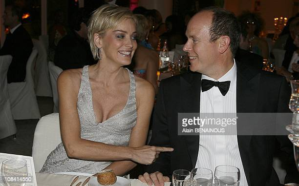 Prince Albert II and Sharon Stone in Monte Carlo France on October 10th 2007