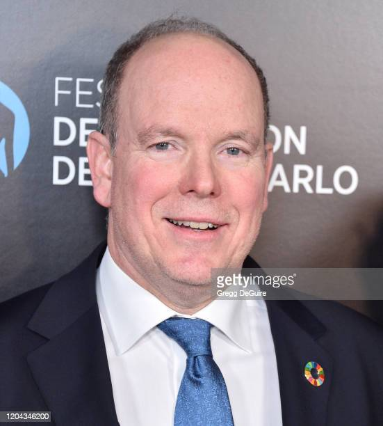 Prince Albert II attends the 60th Anniversary party for the MonteCarlo TV Festival at Sunset Tower Hotel on February 05 2020 in West Hollywood...