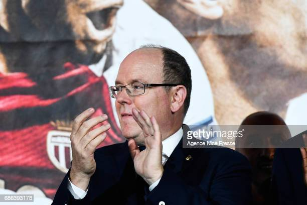 Prince Albert II during AS Monaco French Ligue 1 Winners Parade on May 21 2017 in Monaco Monaco