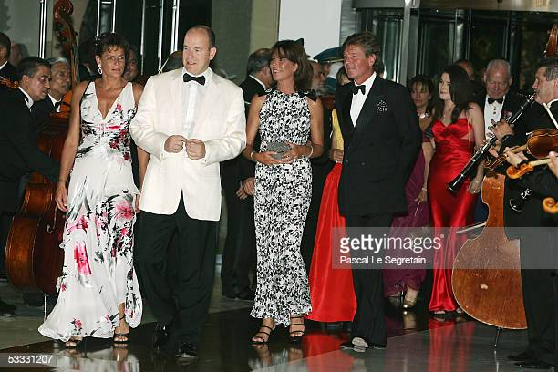 Prince Albert II of Monaco accompanied by Princess Stephanie of Monaco Princess Caroline of Hanover and Prince Ernst August of Hanover arrive at the...