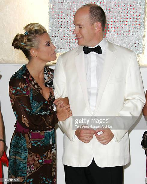 HSH Prince Albert II of Monaco and Anastacia during 2005 Monaco Red Cross Ball Arrivals at Monte Carlo Sporting Club in Monte Carlo Monaco