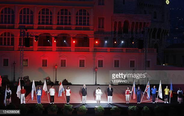 Prince Albert II of Monaco and Charlene In Monaco city Monaco On June 09 2007 HRH prince Albert II of Monaco and his friend Charlene wittstock at the...
