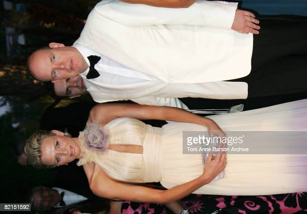 Prince Albert II of Monaco and Charlene Wittstock arrive at the 60th Monaco Red Cross Ball at the Monte-Carlo Sporting Club on August 1, 2008 in...