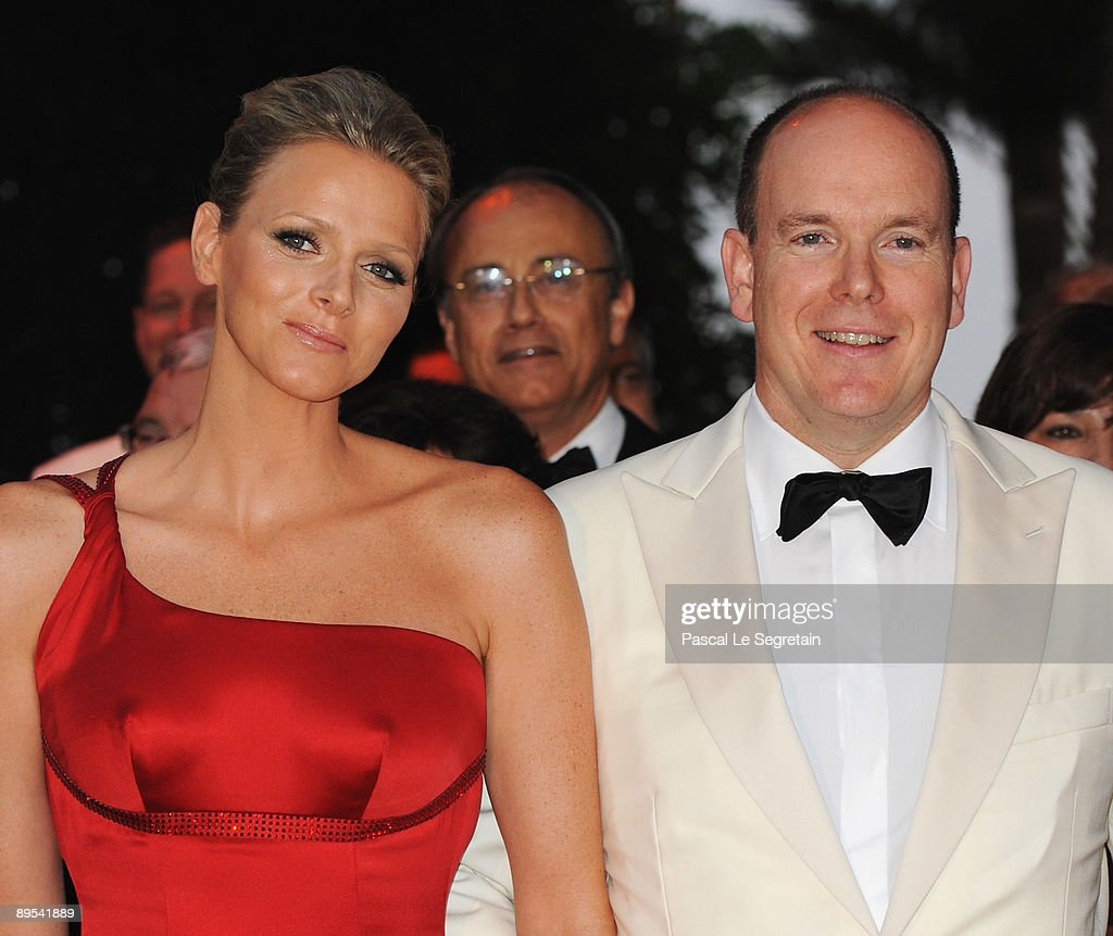 Prince Albert II of Monaco and Charlene Wittstock attend the 61st Monaco Red Cross Ball at the Monte Carlo Sporting Club on July 31, 2009 in Monte Carlo, Monaco.