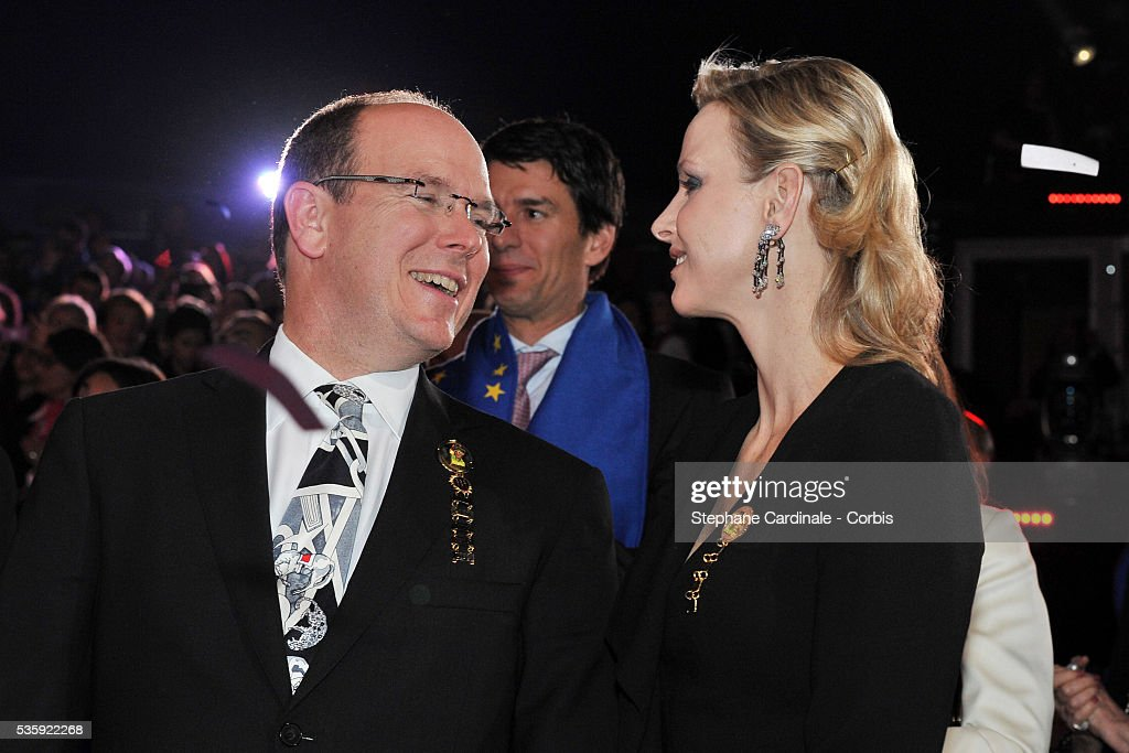 Prince Albert II of Monaco and Charlene Wittstock attend the Gala Ceremony of the Monte-Carlo 35th International Circus Festival 2011.