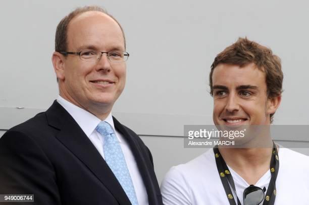 Prince Albert II of Monaco and Formula One driver Fernando Alonso