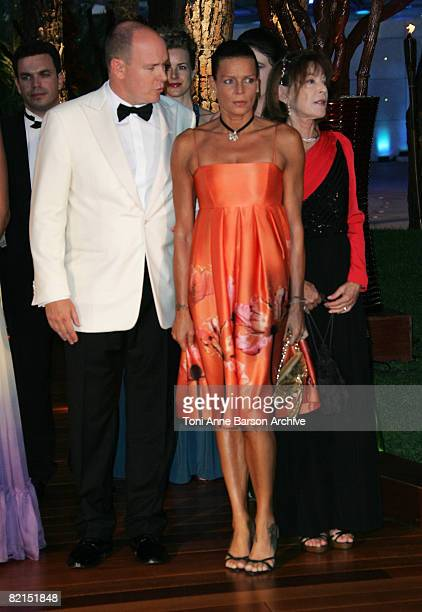 Prince Albert II of Monaco and HSH Princess Stephanie of Monaco attend the 60th Monaco Red Cross Ball at the Monte Carlo Sporting Club on August 1,...