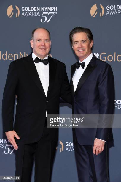 Prince Albert II of Monaco and Kyle Maclachan attend the Closing ceremony of the 57th Monte Carlo TV Festival on June 20 2017 in MonteCarlo Monaco