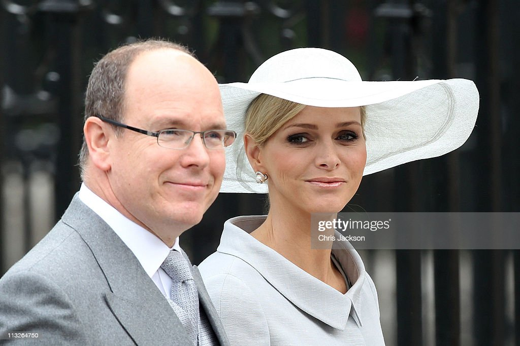 Prince Albert II of Monaco and Miss Charlene Wittstock arrive to attend the Royal Wedding of Prince William to Catherine Middleton at Westminster Abbey on April 29, 2011 in London, England. The marriage of the second in line to the British throne is to be led by the Archbishop of Canterbury and will be attended by 1900 guests, including foreign Royal family members and heads of state. Thousands of well-wishers from around the world have also flocked to London to witness the spectacle and pageantry of the Royal Wedding.