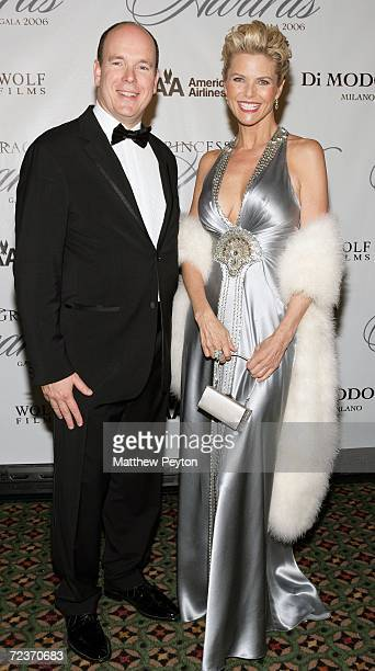 Prince Albert II of Monaco and model Christie Brinkley attend the 2006 Princess Grace FoundationUSA Awards Gala at Cipriani 42nd Street November 2...