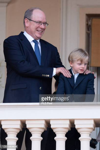 Prince Albert II of Monaco and Prince Jacques of Monaco attend the Fete de la Saint Jean on June 23, 2020 in Monaco, Monaco.