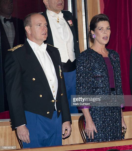 Prince Albert Ii Of Monaco And Princess Caroline Of Hanover Attend The Monaco National Day Gala Concert At Grimaldi Forum As Part Of Monaco National...