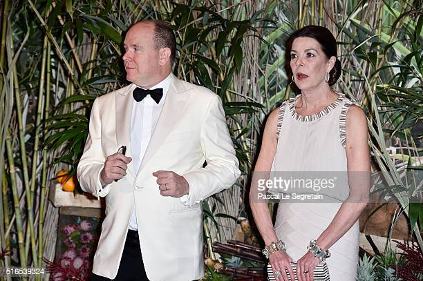 Prince Albert II of Monaco and Princess Caroline of Hanover attend The 62nd Rose Ball To Benefit The Princess Grace Foundation at Sporting MonteCarlo...