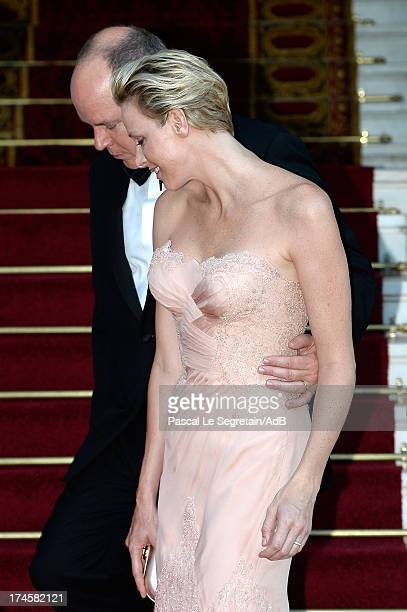 Prince Albert II of Monaco and Princess Charlene of Monaco arrive at 'Love Ball' hosted by Natalia Vodianova in support of The Naked Heart Foundation...