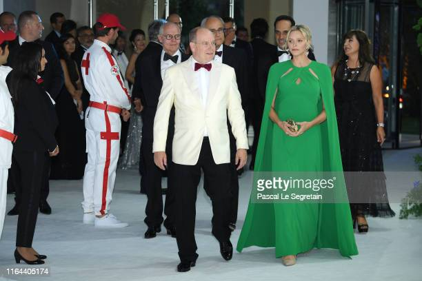Prince Albert II of Monaco and Princess Charlene of Monaco attend the 71th Monaco Red Cross Ball Gala on July 26 2019 in Monaco Monaco