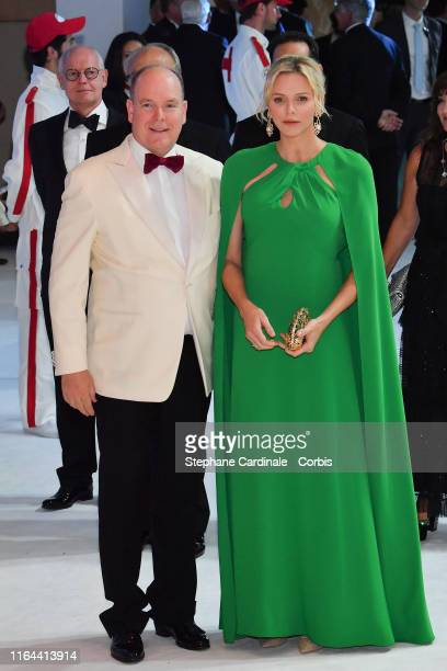 Prince Albert II of Monaco and Princess Charlene of Monaco attend the 71th Monaco Red Cross Ball Gala on July 26, 2019 in Monaco, Monaco.