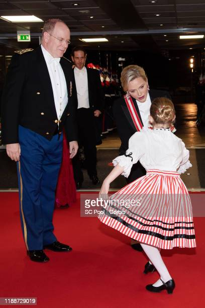 Prince Albert II of Monaco and Princess Charlene of Monaco attend the gala at the Opera during Monaco National Day celebrations on November 19, 2019...