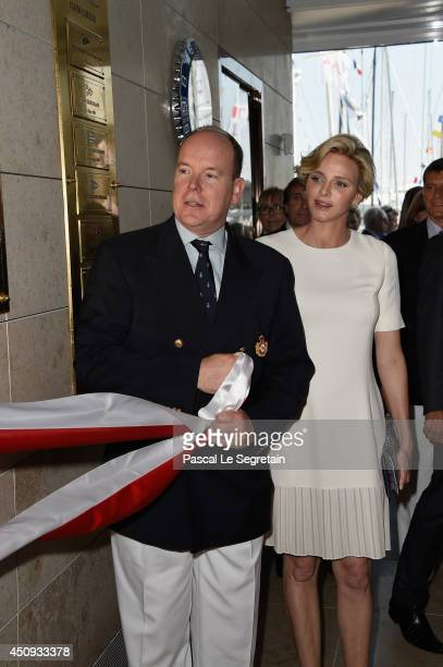 Prince Albert II of Monaco and Princess Charlene of Monaco attend the Monaco Yacht Club Opening on June 20 2014 in MonteCarlo Monaco