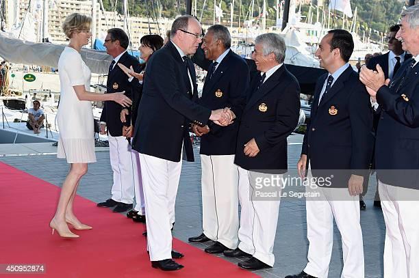 Prince Albert II of Monaco and Princess Charlene of Monaco attend the Monaco Yacht Club Opening on June 20 2014 in MonteCarlo Monaco